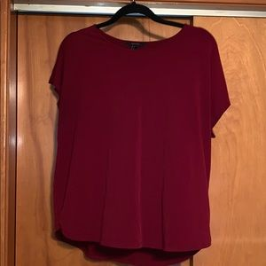 Forever 21 wine colored short sleeve tee
